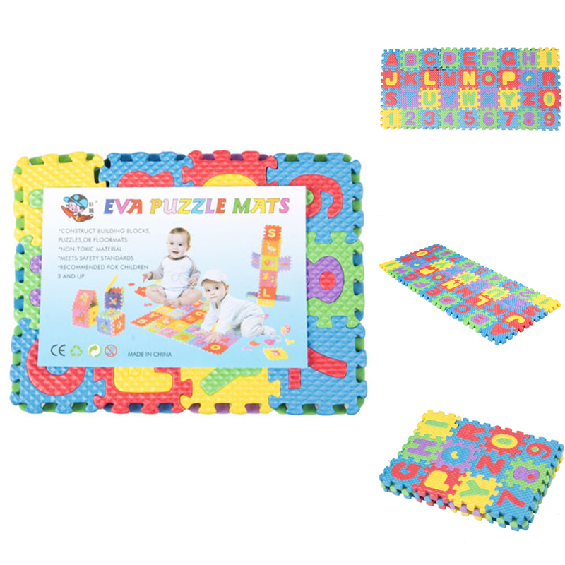 36pcs Soft Eva Foam Cute Kids Play Floor Mat Alphabet Numbers DIY Puzzle  Parent-child Time To Develop Children's Intelligence
