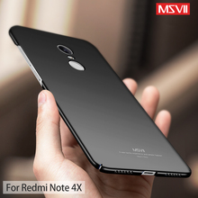 for Xiaomi Redmi Note 4X Case for Redmi Note 4 Pro Cover Msvii Luxury Thin 360 Full Protection PC Frosted Hard Back Cover