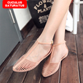 2017 Women Sandals Summer Style Bling Bowtie Fashion Peep Toe Jelly Shoes Sandal Flat Shoes Woman 2 Colors Free Shipping CC-016