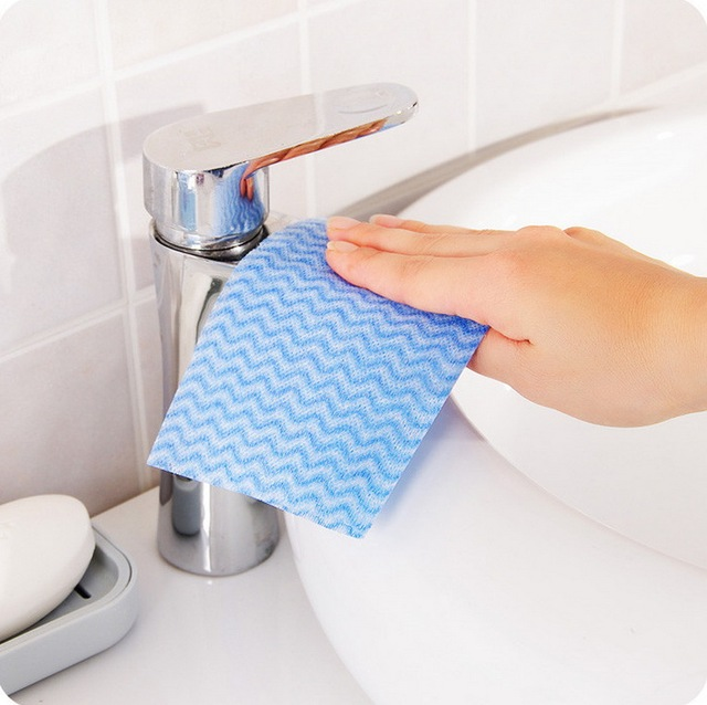 80 Pc Bag Disposable Non Woven Kitchen Towels Cleaning Cloth Gles Dish Wipes Trapos Cocina