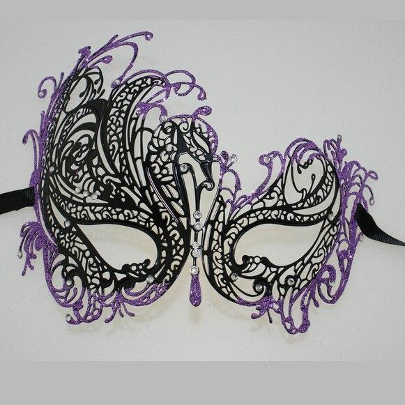 Purple Masquerade Masks