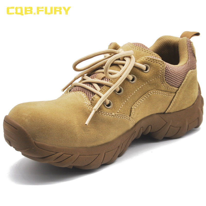 CQB FURY Mens autumn casual shoes super light ankle sand color wearable 4 inches sports shoes