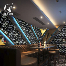 3D Glitter KTV High Quality Laser Flash Of Light Home Decorate Wallpaper Colorful Bar Wallcovering