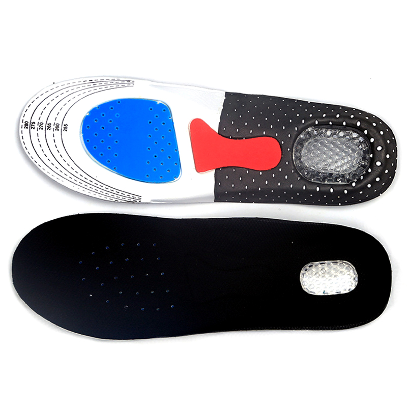 Sport Running Silicone Gel Insoles for feet Man Women for shoes sole orthopedic pad Massaging Shock Absorption arch support