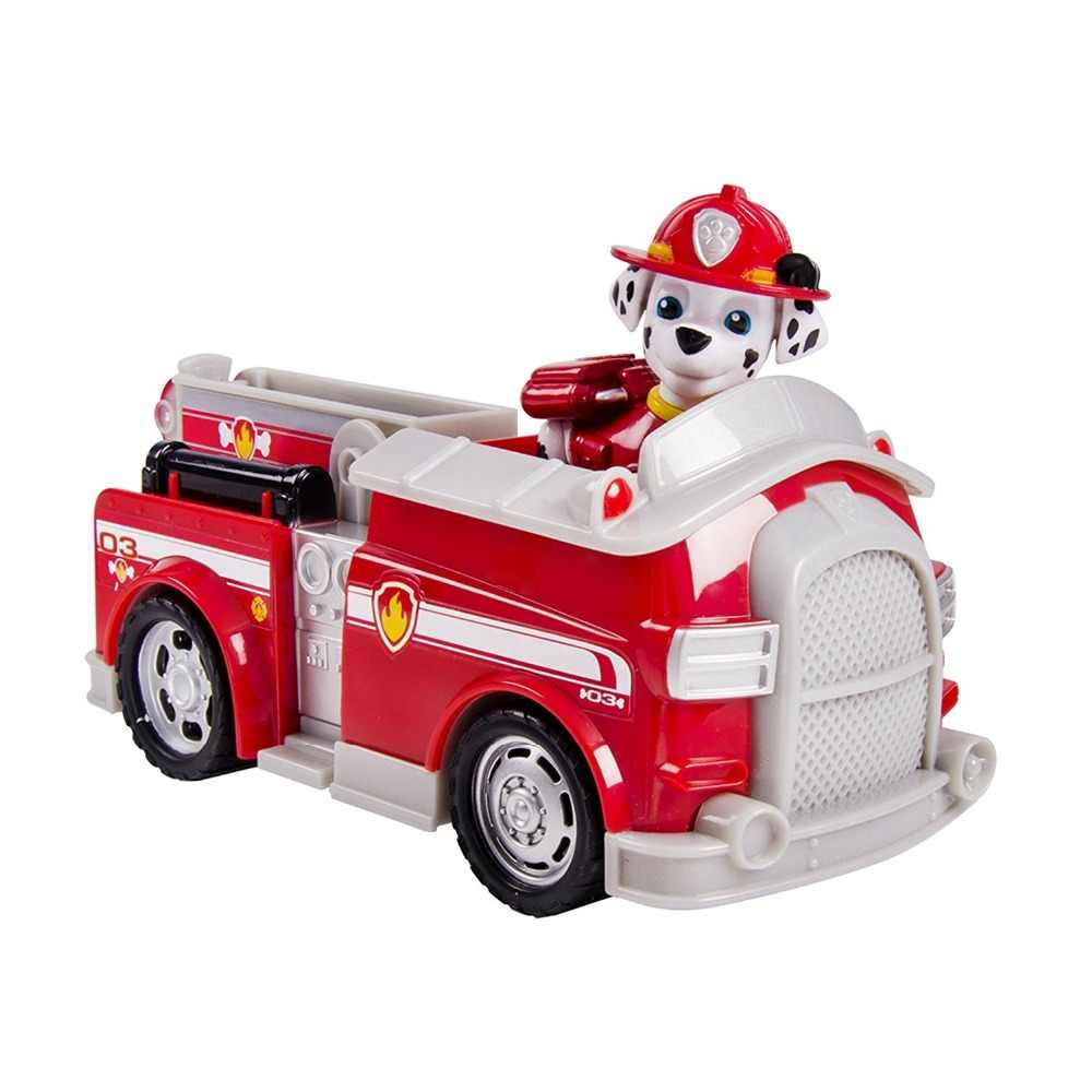 Hot Original Paw Patrol Nickelodeon -- Paw Patrol Vehicle and Pup -  Marshall's Fightin' Fire Truck Kids Dog Toy