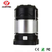 PANYUE Portable LED Camping Lantern Rechargeable USB Power Bank Camping lights 18650 Flashlights Outdoor Tent Lamp Work Light