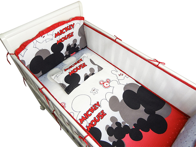 Promotion 6PCS Mesh Cartoon Baby Bed Bedding Super Soft Crib Sheet Baby Bedding Set crib set