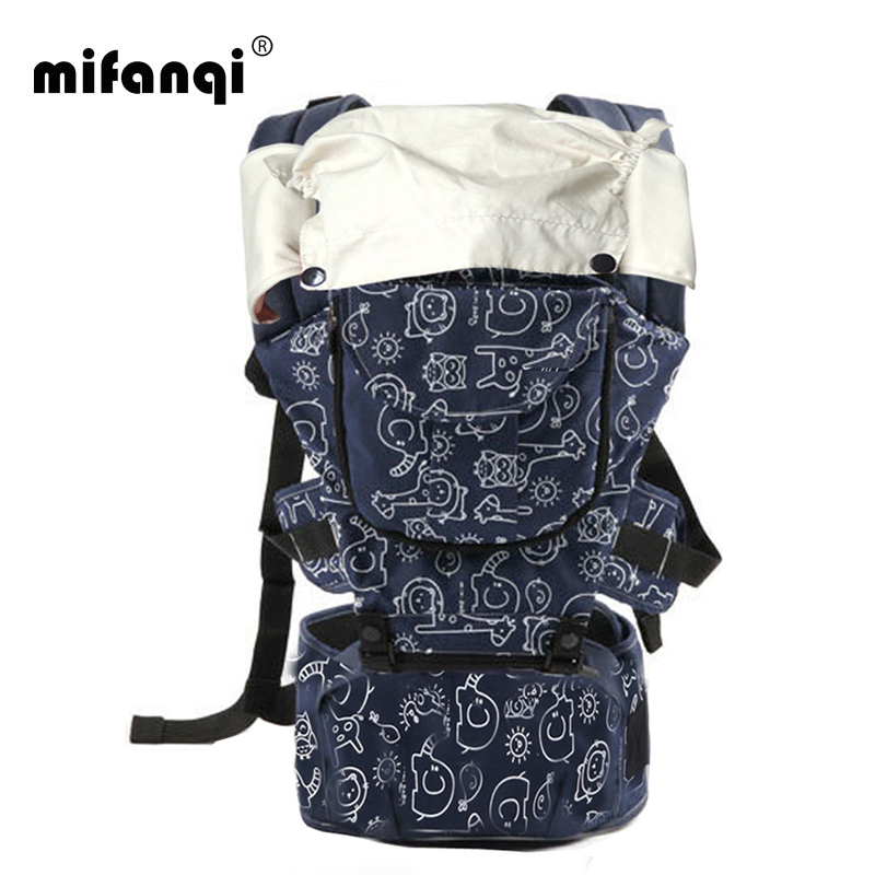 360 Baby Carrier 10-12 Months Baby Hipseat 20kg Infant Backpack Carriers Front Facing Kangaroo Baby Wrap Polyester Manduca Print