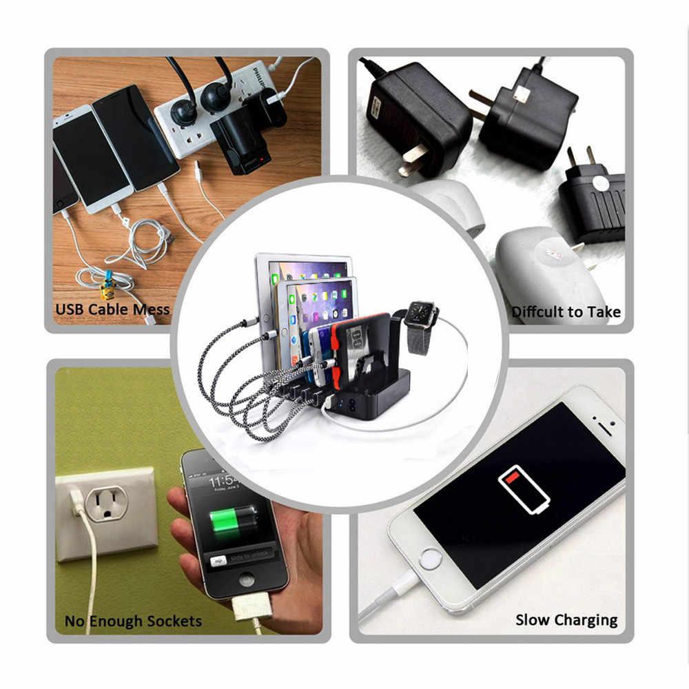 แฟชั่น 6 พอร์ต USB Hub Charger แท่นวางแท่นชาร์จ 60 W สำหรับแท็บเล็ตสำหรับสมาร์ทโฟนเช่น iPhone, สำหรับ Samsung, สำหรับ LG