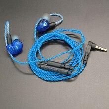 DIY MMCX Oortelefoon Kabel voor Shure SE215 SE535 SE846 UE900 Verbeterde Vervanging 14 Cores Koper Twist Audiokabel met MIC