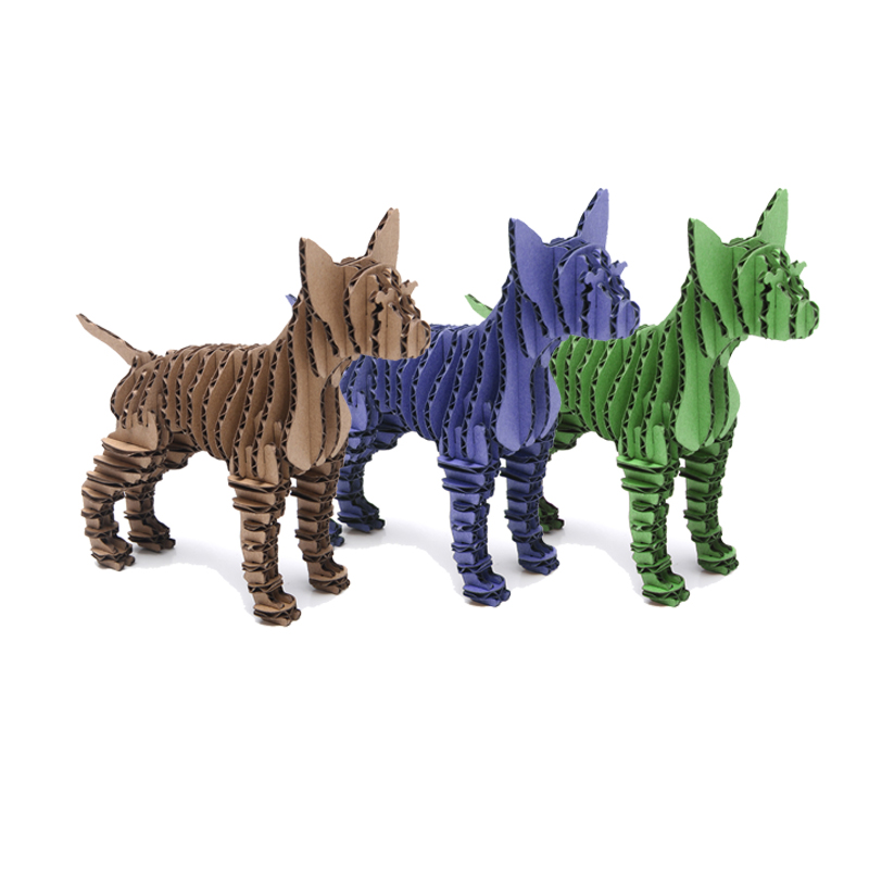 3 шт. Чихуахуа Товары для собак животного Бумага головоломки Craft Творческий экологичный картон DIY ручной работы детская игрушка для вечерино...
