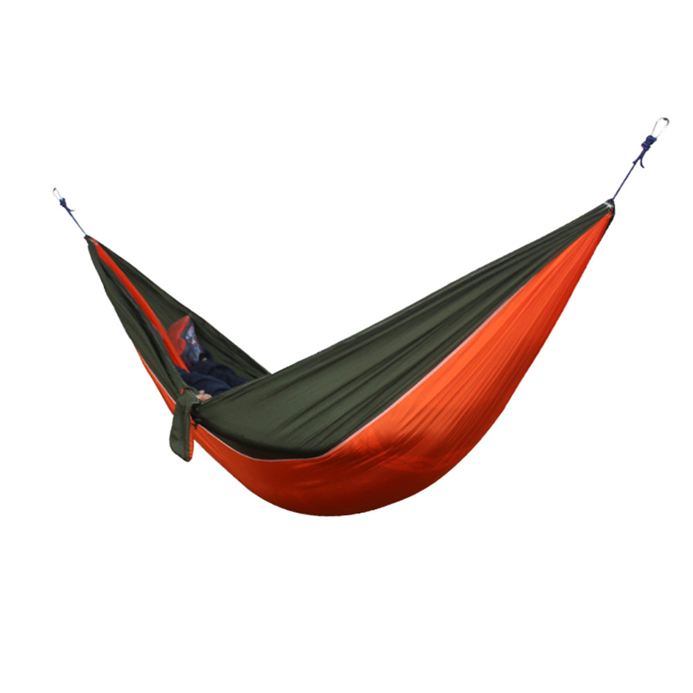 Portable Nylon Parachute Double Hammock Garden Outdoor Camping Travel  Furniture Survival Hammock Swing Sleeping Bed For 2 Person In Hammocks From  Furniture ...
