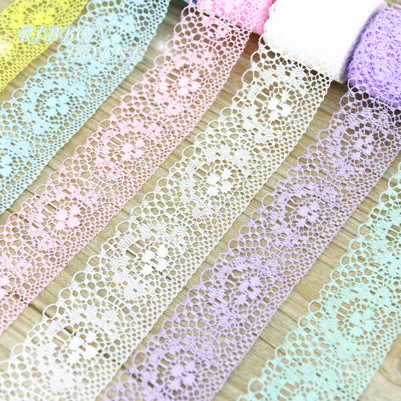 (5 Yards/roll) 40mm White Lace Fabric Webbing Decoration Packing Material