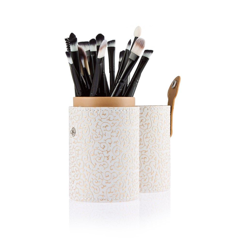 20pcs Eye Makeup Eye Face Shadow Powder Makeup Brushes Set Foundation Brush With Cosmetic Brushes Kit Tools White Storage Case1