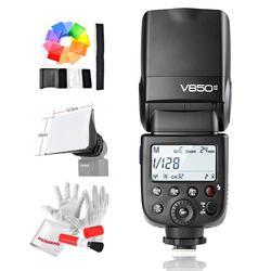 3pcs Godox V850II 1/8000s HSS 2.4G X System Lithium Battery Speedlite Flash +X1T-N Trigger Transmitter for N Camera CD50 L