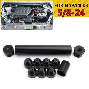 Image 3 - 11Pcs 1/2 28 5/8 24 Fuel Filters Fuel Trap Solvent Filter 1X6 For NAPA 4003 WIX 24003 6061 T6 Automobiles Filters Parts Black SR
