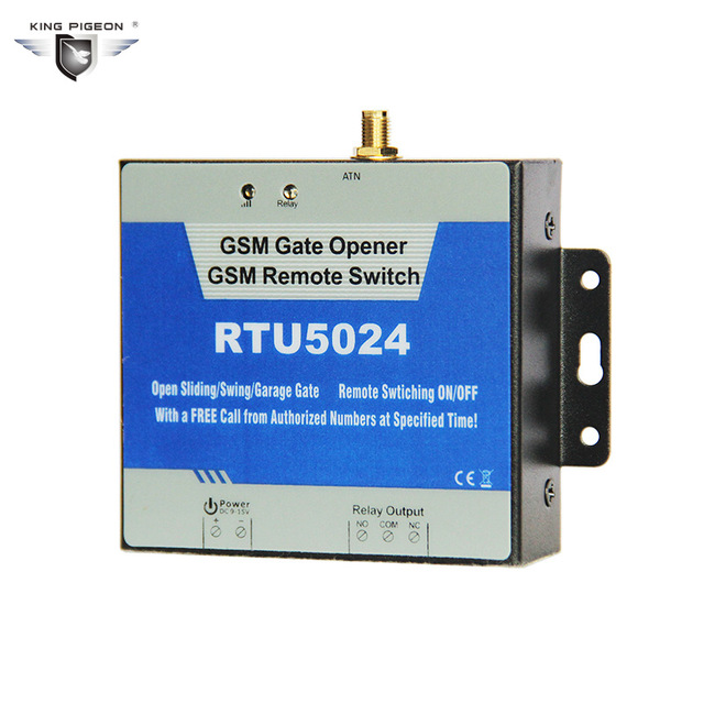 RTU5024 GSM Garage Swing Sliding GSM Gate Opener Relay Switch Remote Access Control Wireless Door Opener Free Call SMS