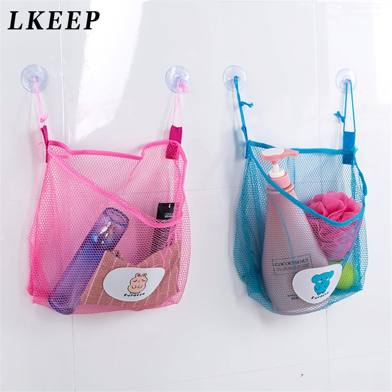 Multi-function Space Saving Hanging Mesh Bags Clothes Organizer For Bedroom Cosmetic Bag Bathing Storage