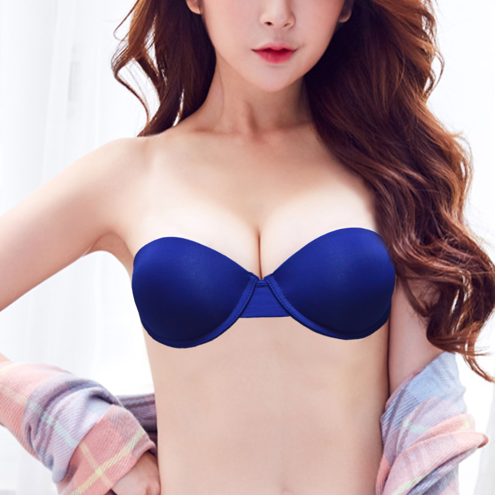 a88a62602d5 Detail Feedback Questions about YANDW Sexy Wedding Lingerie Padded Push Up Bras  Invisible Transparnt Strapless Adjustable Clear Back Bras 32 34 36 38 40 ...