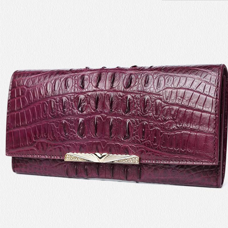 Gete new real Thai crocodile clutches female leather bag more hustle buckles long money clutches yuanyu real thai crocodile purse female long clutchse crocodile leather bag more screens hand caught bag women day cluthes