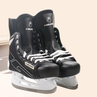 Winter Adult Teenagers Kids Professional PU Thermal Warm Thicken Ice Hockey Skates Shoes With Ice Blade Comfortable Beginner