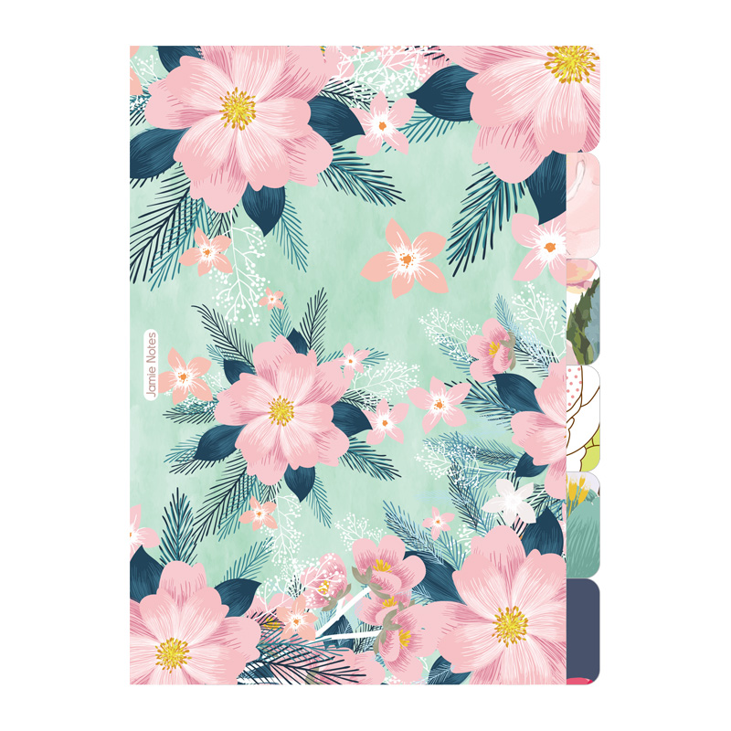 Floral Series Spiral Notebook Divider Index Pages Bookmark For Filofax Dokibook A5A6 Daily Planner Organizer Vintage StationeryFloral Series Spiral Notebook Divider Index Pages Bookmark For Filofax Dokibook A5A6 Daily Planner Organizer Vintage Stationery