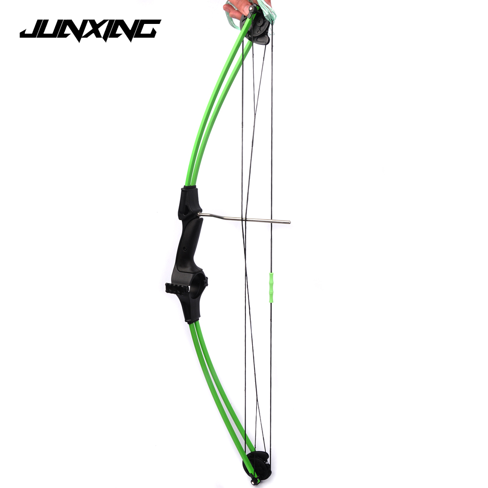 New 34 Inches Children Compound Bow Draw Weight 15Lbs Black Fiberglass Handle for Archery Practice Competition Game Shooting hot sale children compound bow draw weight 8 12 lbs for archery practice competition games bow target hunting shooting page 4