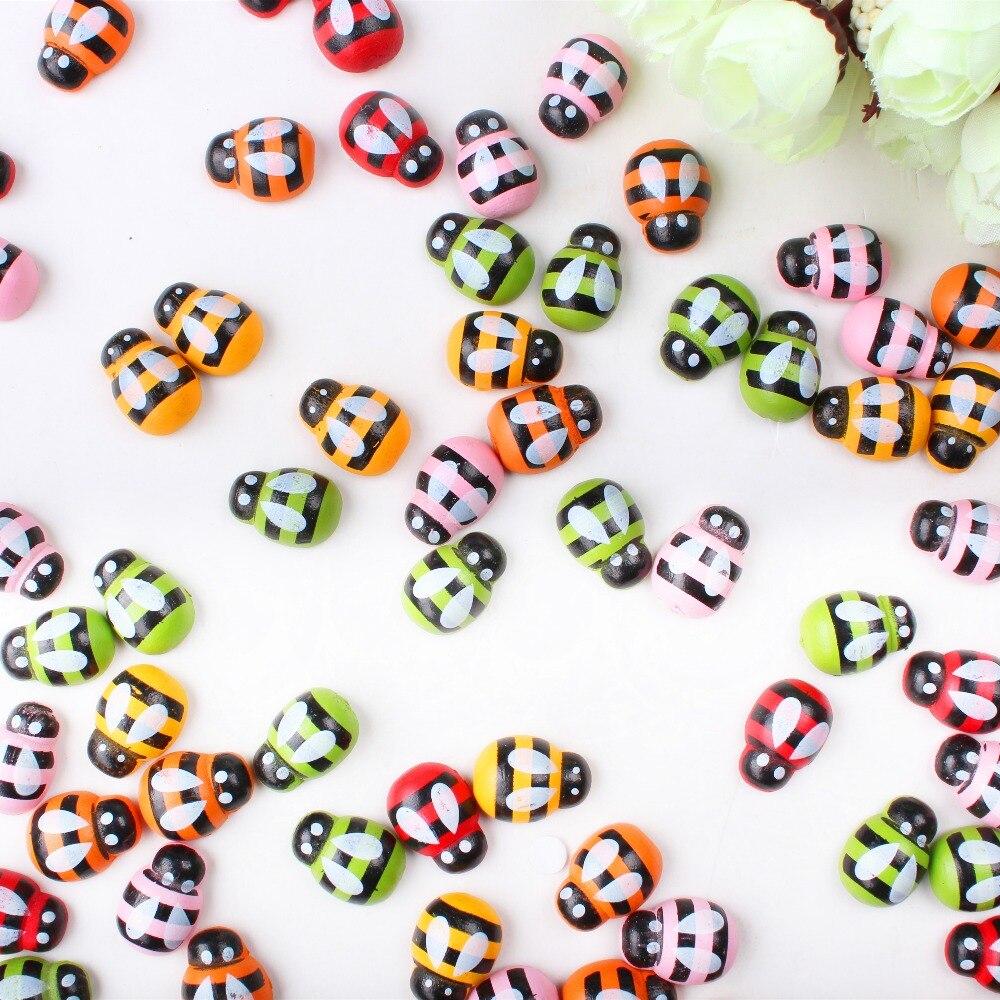 50 шт. пчелы Наклейки пасхальные украшения милые Магниты на холодильник для Скрапбукинг 13.5*18.5 мм xp0231
