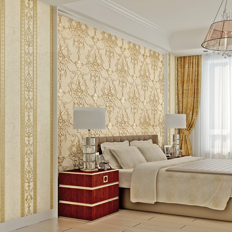 Wallpaper 3D Embossed Non Woven Wallpapers Luxury European Wall Paper Mural  Design,Living Room Wallpaper Designs Home Decor In Wallpapers From Home ...