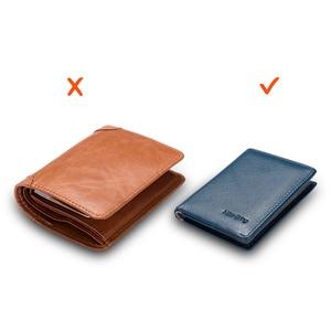 Image 4 - NewBring Minimalist กระเป๋าสตางค์หนังผู้ชายกระเป๋าถือชาย