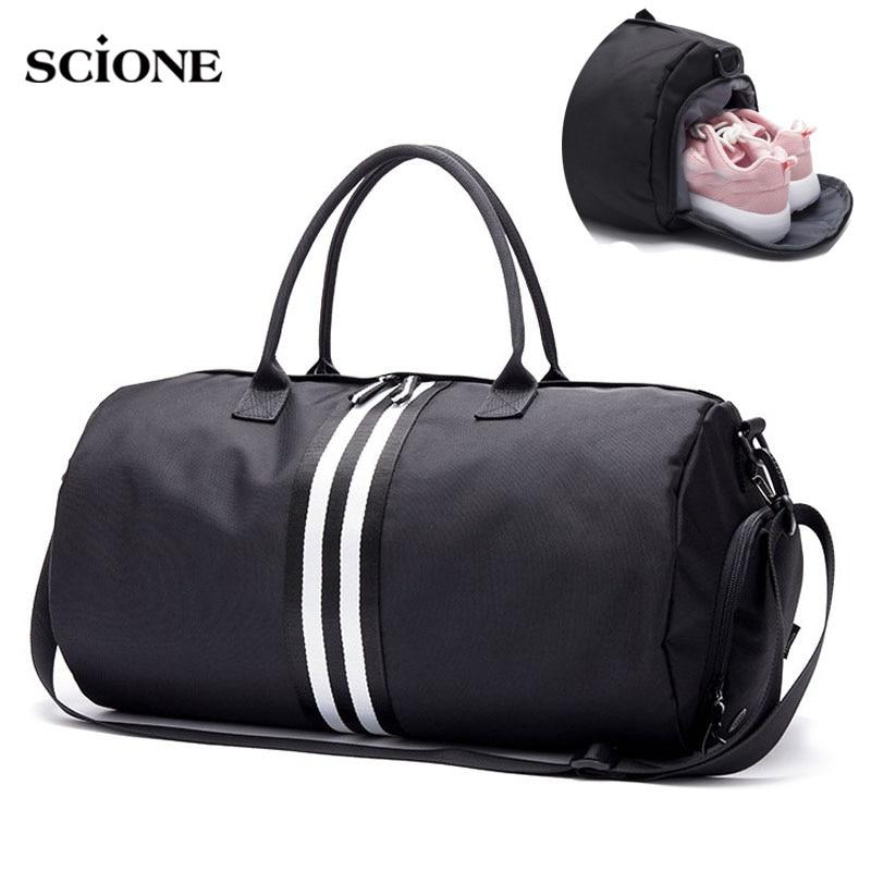 07f78591e8 Canvas Women s Travel Bags Yoga Gym Bag for Fitness Shoes Handbags Shoulder  Crossbody Training Men Sac De Sport Pack New XA544WA-in Gym Bags from Sports  ...