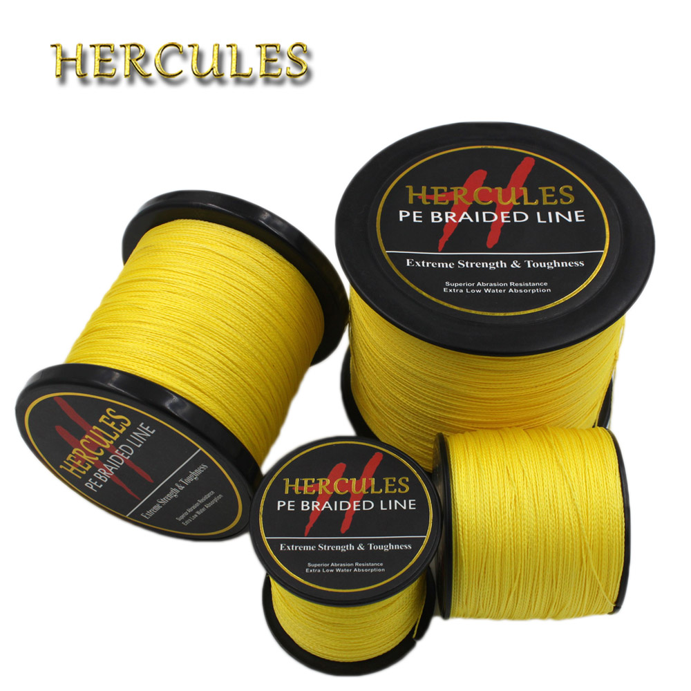 Hercules Red 100/% PE Braided Fishing Line Saltwater 8-100LB 100M 300M 500M 1000M
