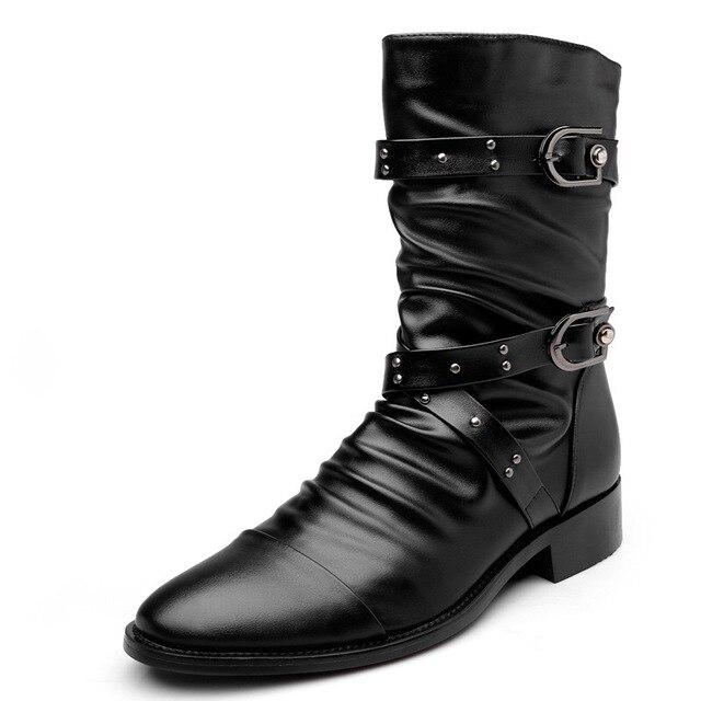 Lente/Winter Bont mannen Chelsea Laarzen, Stijl Mode Laarzen, zwart Brogues Zacht Leer Toevallige Schoenen maat 37-46 eur