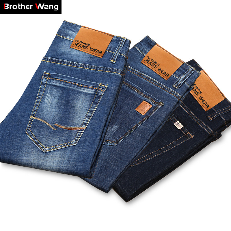 Denim Shorts Jeans Business Black Fashion Casual Summer Brand Blue New Stretch of Male