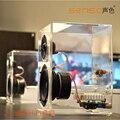 Original sensc x1 além de cristal super bass orador 2.0, artesão de luxo amor cristal de desktop de alta fidelidade falante estéreo ativo para pc/tv