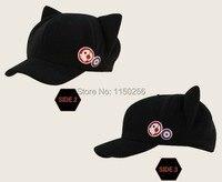 משלוח חינם אנימה Neon Genesis Evangelion EVA אסוקה קוספליי כובע לנגלי סוריא חתול אוזן Kawaii לגברים נשים + תגים חדש