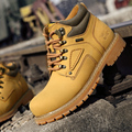 Men boots leather shoes size 38-47 motocross man autumn spring winter warm snow boots army casual cowboy boot outdoor Flats