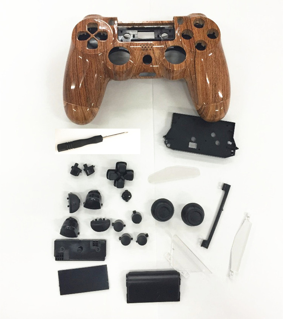 US $14 38 |Full Sets Custom Controller Hydro Dipped Wood grain Shell  Housing Cover case For Sony Playstation 4 PS4 PS 4 with full button-in  Cases from