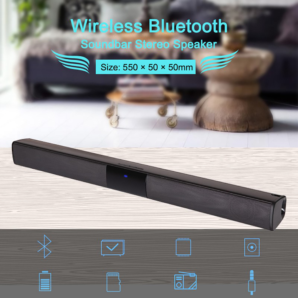 Vtin 4 Drivers Wireless Speaker Soundbar 3D Stereo Surround Sound Bluetooth Speakers For TV Home Theater With Remote Control&RCA