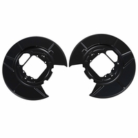 For BM X5 E53 REAR DISC BRAKE BACK PLATES RIGHT HAND LEFT HAND PAIR A1080