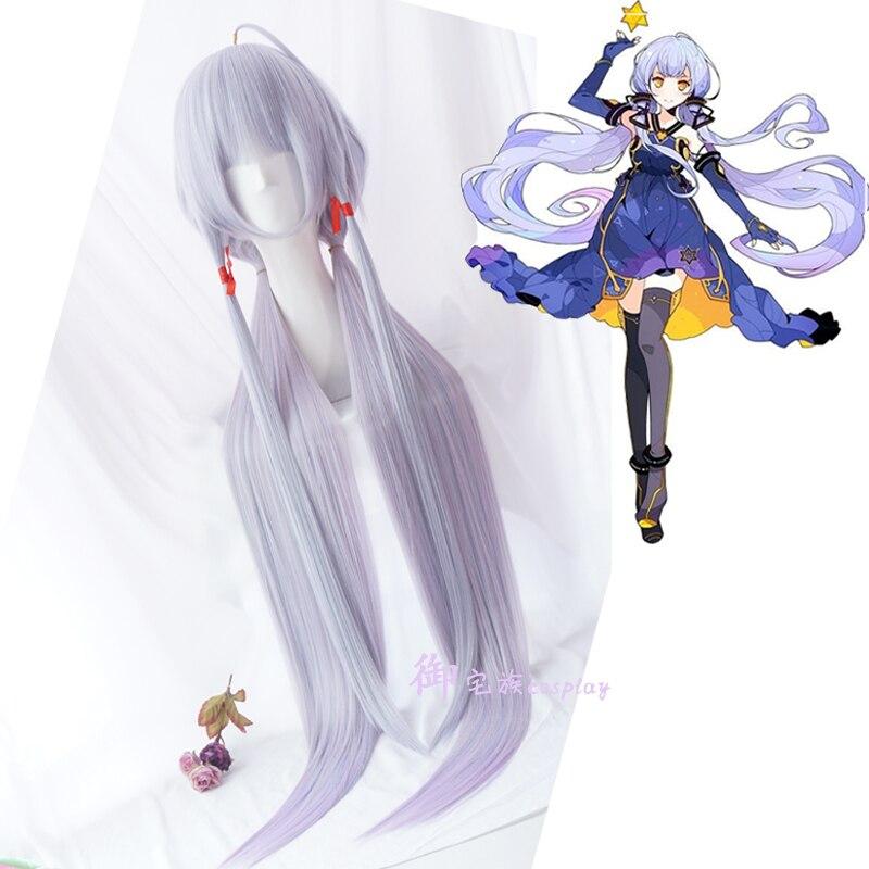 Vocaloid Hatsune Stardust прямые Хвостики аниме показать Косплэй парик градиент Цвет