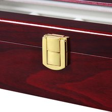 Luxury Wooden Watch Box Watch Holder Box For Watches Men Glass Top Jewelry Organizer Box 2 3 5 12 Grids Watch Organizer New D40