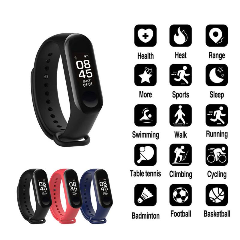 Image 2 - M3 Smart Bracelet Bluetooth Bracelet Supports Multi Language for Android /iOS with Heart Rate Sleep Monitoring Message Reminder-in Smart Wristbands from Consumer Electronics