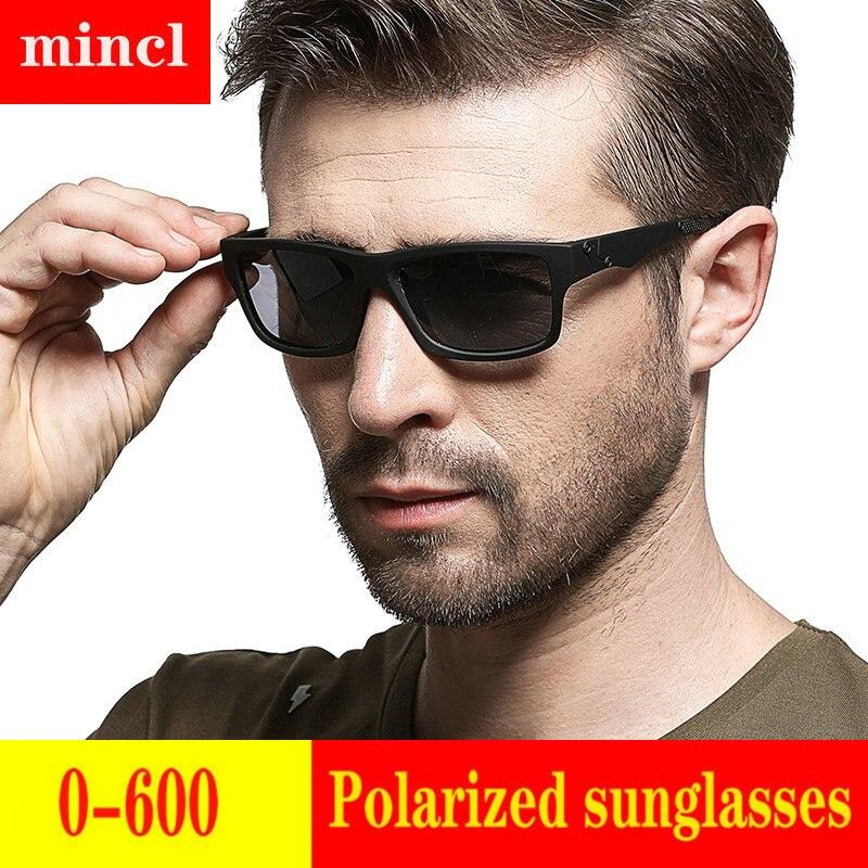 2019 Diopter men women Custom Made Myopia Minus Prescription Polarized LensRetro squar esunglasses men Driving goggles UV FML 19