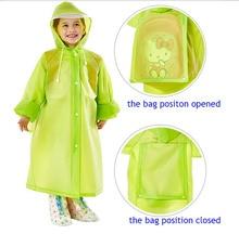 Kinder Regenmantel EVA Geschmacksneutral Regenmäntel Praktische Schultasche Kinder Regen Mantel
