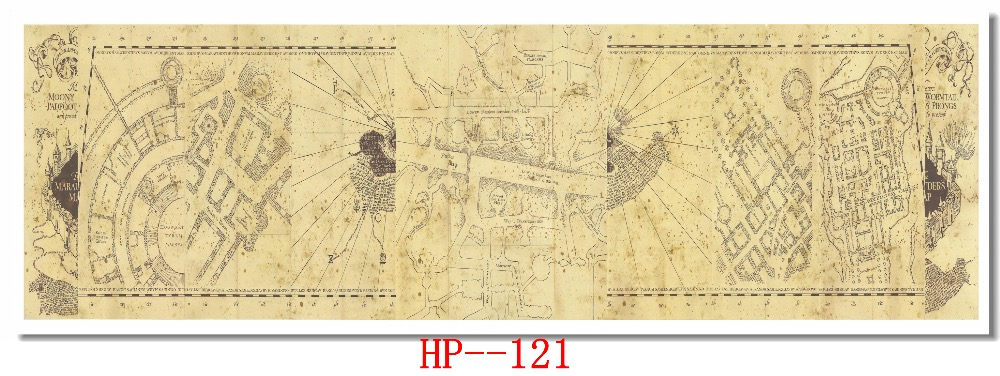 Buy marauder\'s map vintage and get free shipping on AliExpress.com