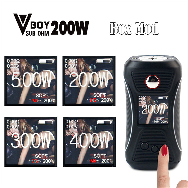Original GTRS Vboy 200W Box mod SX500 chip High-performance Chipset 18650 GTRS V BOY 200 Electronic Cigarette Mods Version 2 купить в Москве 2019