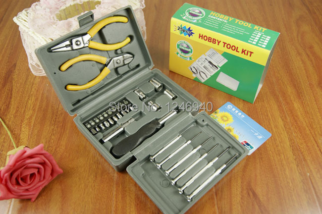 Metal toolbox 24 PC household hardware toolkits suit practical toolbox wholesale tool ma ...