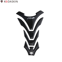 KODASKIN Motorcycle Tank Pad Stickers Protectors 3D Carbon Fiber fit for YAMAHA YZF R6