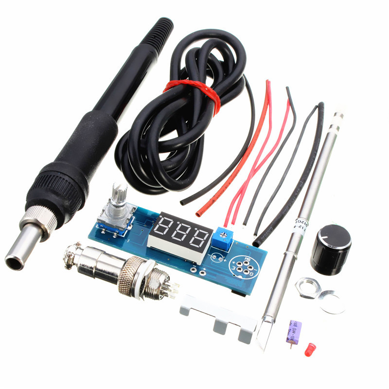 DIY T12 Handle Electric Unit Basic Ability PracticalDigital Soldering Iron Station Temperature Controller Kits